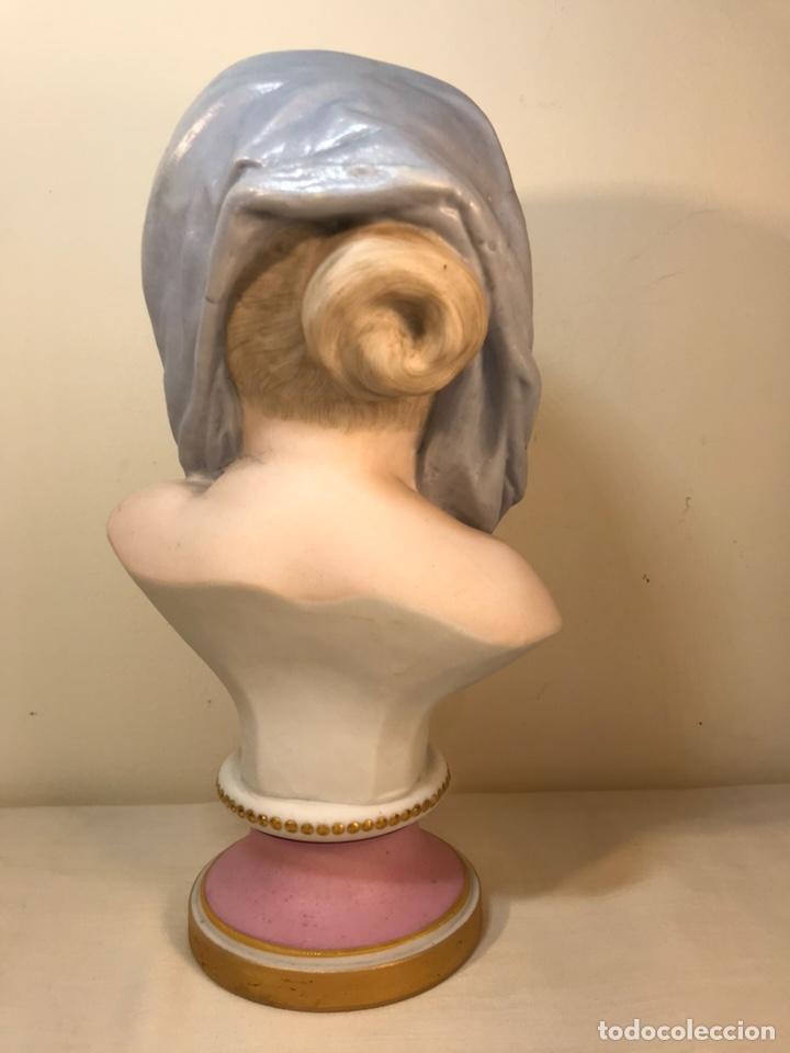 Antigüedades: Figura Porcelana-Francia-Vion & Baury- Busto: Hiver (Invierno)- 25 cm. - Foto 14 - 158562224