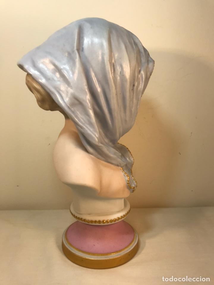 Antigüedades: Figura Porcelana-Francia-Vion & Baury- Busto: Hiver (Invierno)- 25 cm. - Foto 16 - 158562224