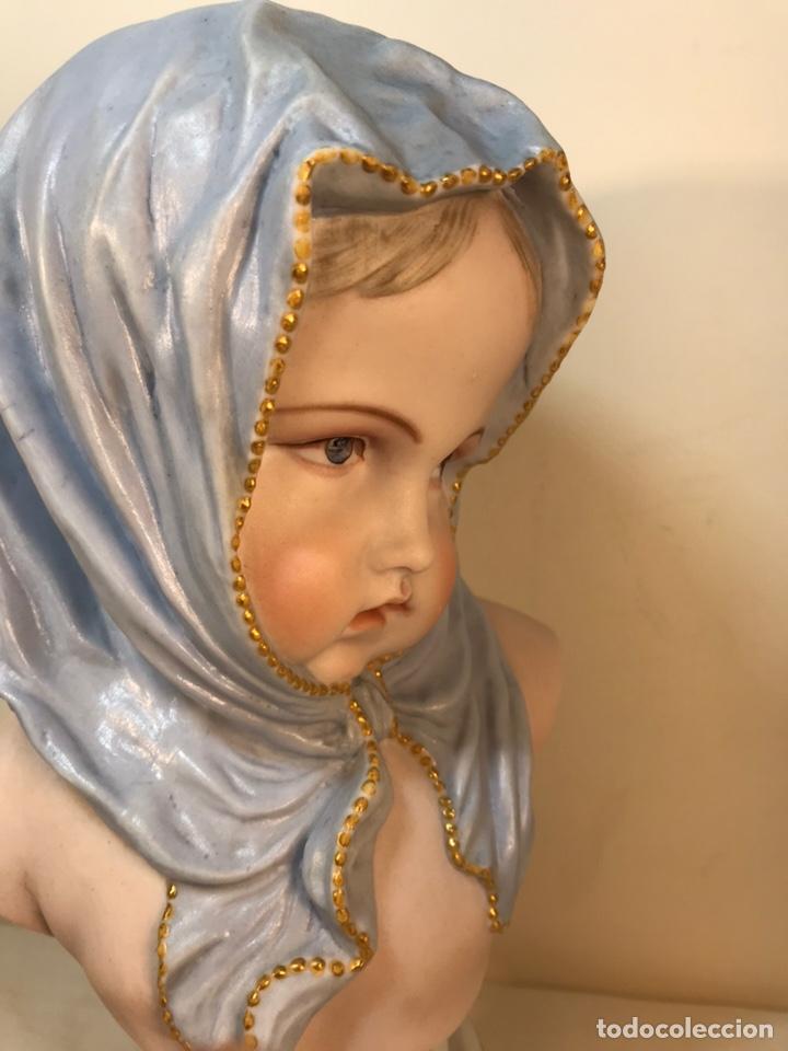 Antigüedades: Figura Porcelana-Francia-Vion & Baury- Busto: Hiver (Invierno)- 25 cm. - Foto 22 - 158562224