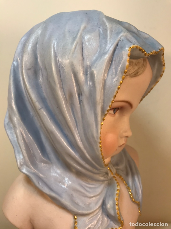 Antigüedades: Figura Porcelana-Francia-Vion & Baury- Busto: Hiver (Invierno)- 25 cm. - Foto 23 - 158562224