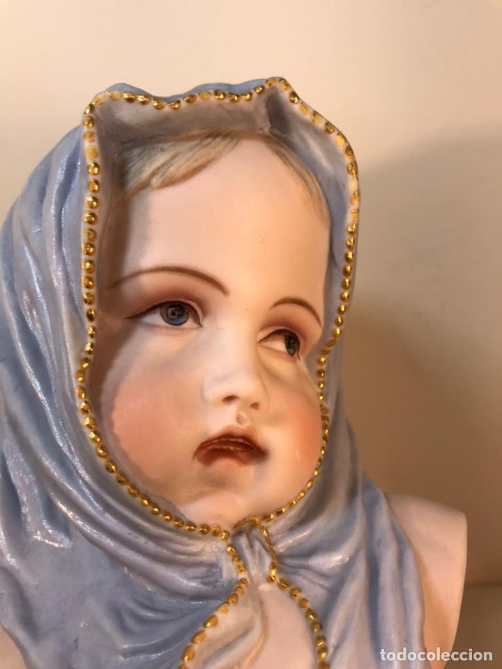 Antigüedades: Figura Porcelana-Francia-Vion & Baury- Busto: Hiver (Invierno)- 25 cm. - Foto 24 - 158562224