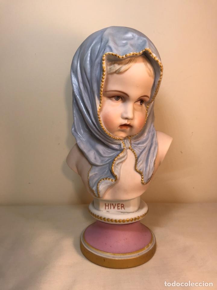 Antigüedades: Figura Porcelana-Francia-Vion & Baury- Busto: Hiver (Invierno)- 25 cm. - Foto 26 - 158562224