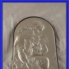 Antigüedades: BONITO CUADRO MATERNIDAD DE PLATA DE SOBREMESA . Lote 158565050