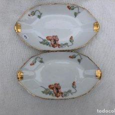 Antiquités: 2 BANDEJITAS EN PORCELANA DE LIMOGES. Lote 158567834