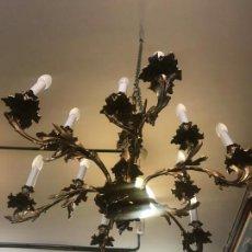 Antigüedades: GRAN LAMPARA LUIS XV EN BRONCE DORADO. Lote 158570218