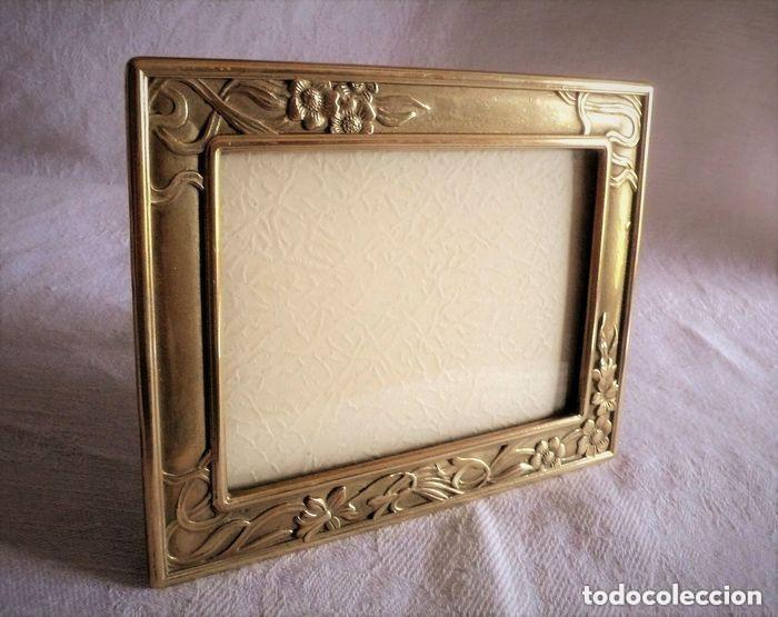 Muy Bonito Marco De Bronce Art Deco Principio S