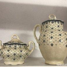 Antigüedades: TETERA Y AZUCARERA. CARTUJA PICKMAN. Lote 158594056