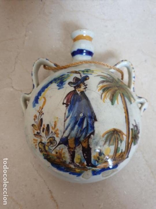 DE MUSEO,PRECIOSA CANTIMPLORA EN CERAMICA DE TRIANA,(SEVILLA),S. XIX (Antigüedades - Porcelanas y Cerámicas - Triana)
