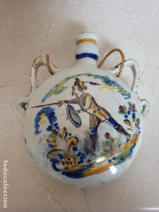 Antigüedades: DE MUSEO,PRECIOSA CANTIMPLORA EN CERAMICA DE TRIANA,(SEVILLA),S. XIX - Foto 2 - 158599654