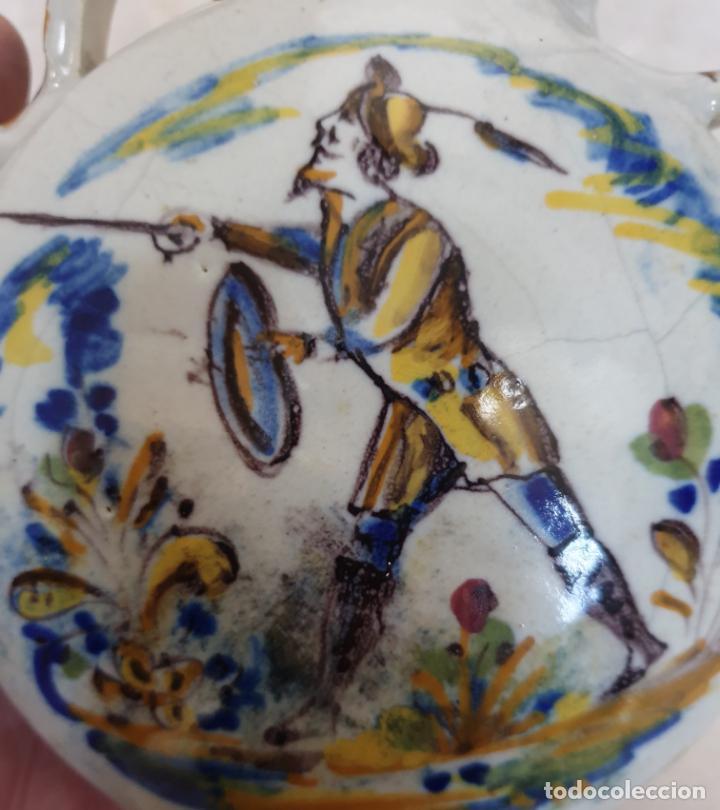 Antigüedades: DE MUSEO,PRECIOSA CANTIMPLORA EN CERAMICA DE TRIANA,(SEVILLA),S. XIX - Foto 4 - 158599654