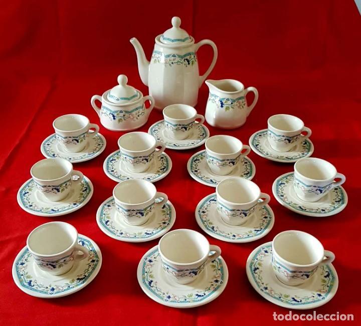 JUEGO CAFE SAN CLAUDIO PRELUDIO, 12 SERVICIOS, NUEVO (Antigüedades - Porcelanas y Cerámicas - San Claudio)