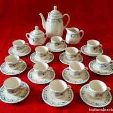 Antigüedades: JUEGO CAFE SAN CLAUDIO PRELUDIO, 12 SERVICIOS, NUEVO. Lote 158600810