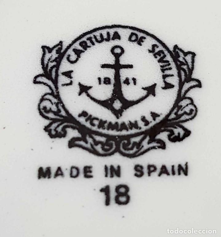 Antigüedades: JUEGO CAFE LA CARTUJA PICKMAN, Mª IMPERIO verde, 12 servicios, nuevo - Foto 9 - 158602822