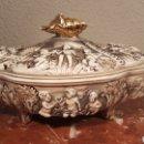 Antigüedades: SOPERA DE PORCELANA. PEREIRAS VALADO. PORTUGAL.. Lote 158618350