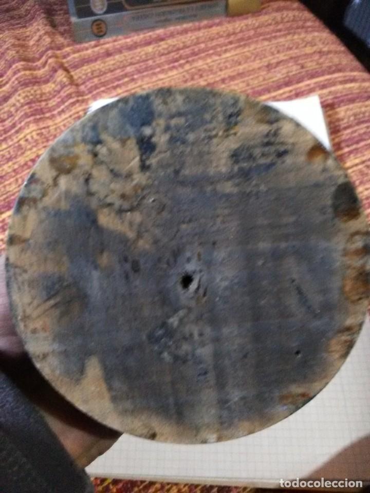 Antigüedades: Antigua figura en plomo y baño de estaño - Foto 5 - 158625022
