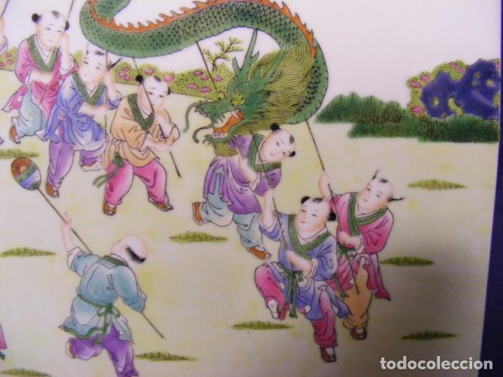 Antigüedades: PLACA EN PORCELANA CHINA - Foto 2 - 158662146