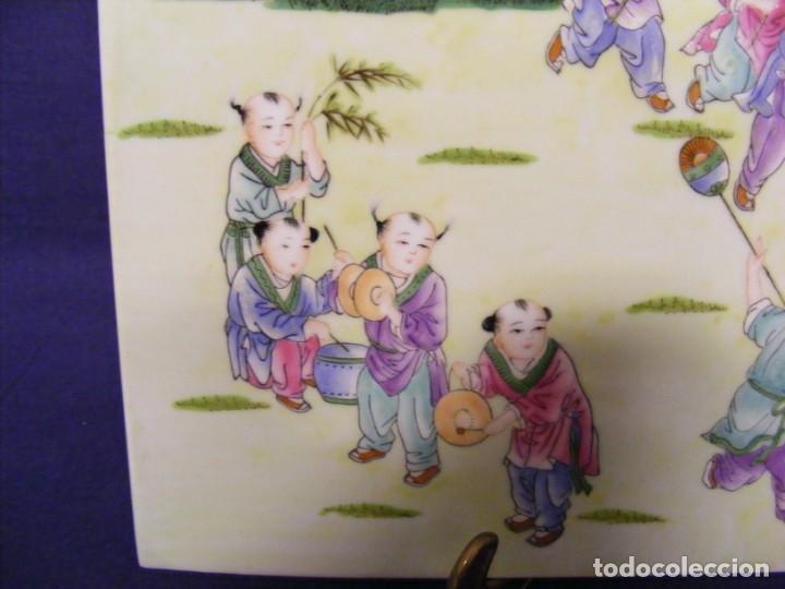 Antigüedades: PLACA EN PORCELANA CHINA - Foto 3 - 158662146