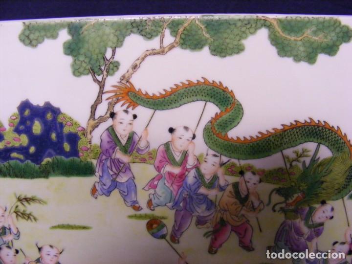 Antigüedades: PLACA EN PORCELANA CHINA - Foto 4 - 158662146