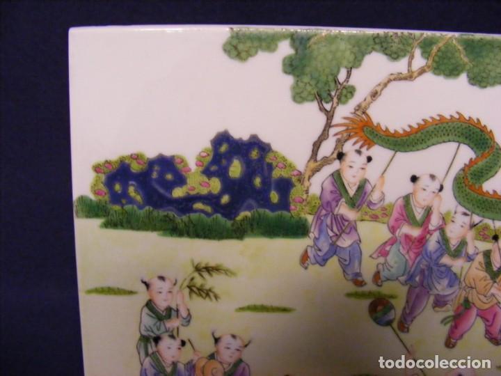 Antigüedades: PLACA EN PORCELANA CHINA - Foto 5 - 158662146