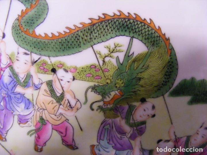 Antigüedades: PLACA EN PORCELANA CHINA - Foto 7 - 158662146