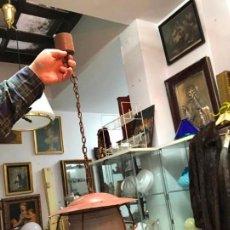 Antigüedades: ANTIGUA LAMPARA FAROL INDUSTRIAL TIPO DE BARCO CON MEDIDA SIN CADENA DE 27X18 CM. Lote 158672138