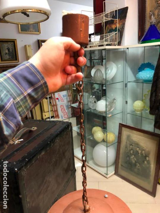 Antigüedades: ANTIGUA LAMPARA FAROL INDUSTRIAL TIPO DE BARCO CON MEDIDA SIN CADENA DE 27X18 CM - Foto 2 - 158672138