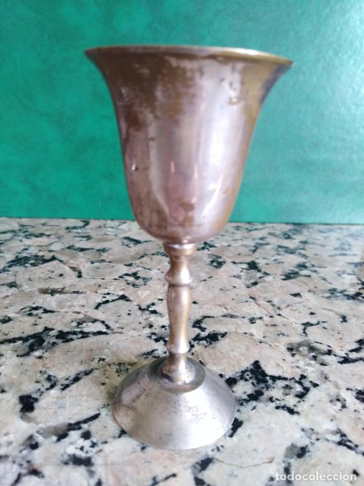 ANTIGUA COPA CALIZ METAL (Antigüedades - Hogar y Decoración - Otros)