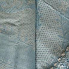 Antigüedades: ANTIGUA COLCHA ,CUBRE CAMA BROCADA. COLCHAS FONTAL. NUEVA. Lote 158704718