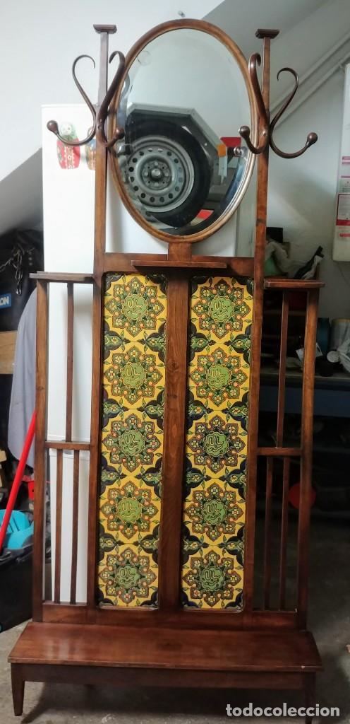 MUEBLE RECIBIDOR PERCHERO THONET (Antigüedades - Muebles Antiguos - Auxiliares Antiguos)