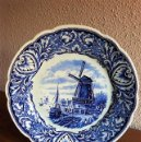Antigüedades: HERMOSO PLATO ANTIGUO DELFTS MAASTRICH BY PETRUS REGOUT MADE IN HOLLAND DE 25 CM DE DIAMETRO. Lote 158730762