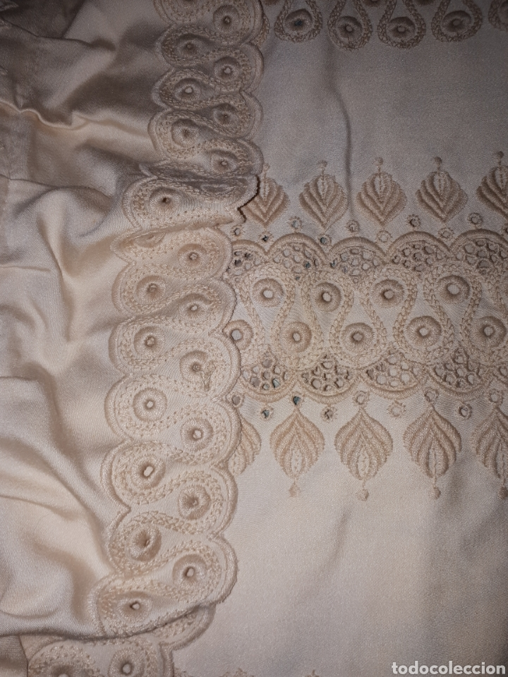Antigüedades: Colcha antigua bordada - Foto 12 - 158747586