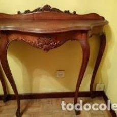 Antigüedades: CONSOLA MADERA ESTILO ISABELINO. Lote 158750494