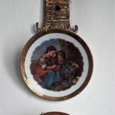 Antigüedades: 2 PLATOS DE PORCELANA PRIMERA MITAD DEL XX.. Lote 158752294