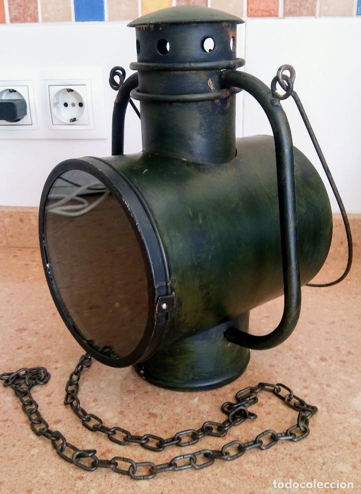 Antigüedades: FAROL FERROVIARIO - Foto 2 - 158752806