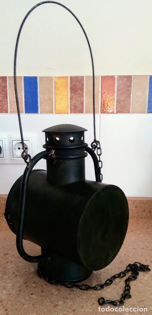 Antigüedades: FAROL FERROVIARIO - Foto 3 - 158752806