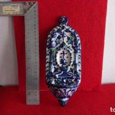 Antigüedades: BENDITERA CERAMICA,CUÑO GRANADA CERAMICA ARABE. Lote 158790322