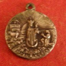 Antigüedades: OLIVA DE LA FRONTERA, BADAJOZ, SIGLO XIX, RARISIMA MEDALLA NTRA.SRA.DE GRACIA, CRISTOBAL COLON. Lote 182478937