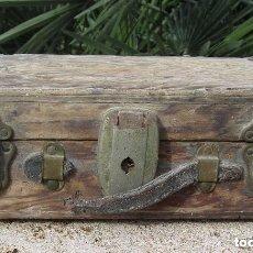 Antigüedades: ANTIGUO BAÚL MADERA. Lote 158804958