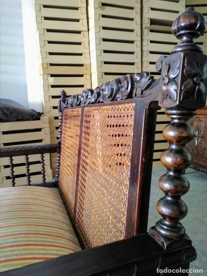 Antigüedades: Tresillo-Sillón o sofá antiguo castellano - Foto 5 - 158818338