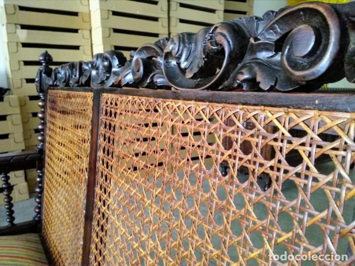 Antigüedades: Tresillo-Sillón o sofá antiguo castellano - Foto 6 - 158818338