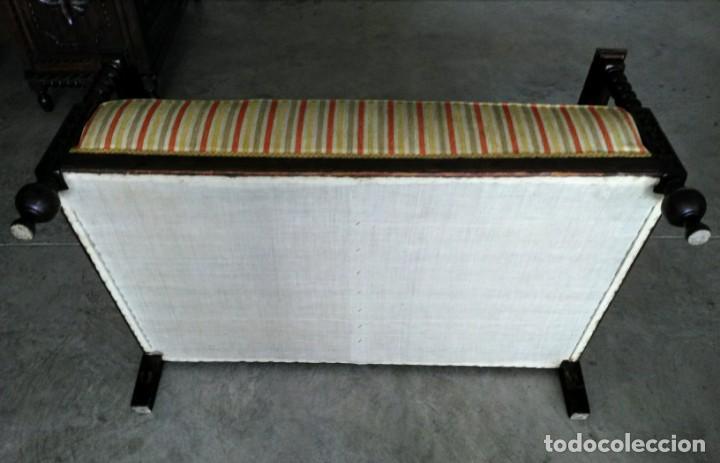 Antigüedades: Tresillo-Sillón o sofá antiguo castellano - Foto 7 - 158818338