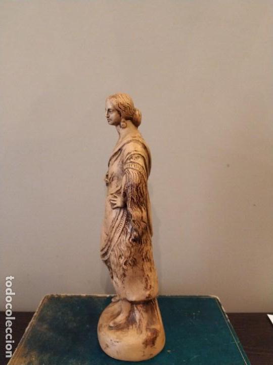 Antigüedades: FIGURA GITANA - POSIBLE ANTONIO GARRIGOS - EN TERRACOTA - SELLO VILA ALBACETE - MUSEO COLECCIONISTA - Foto 6 - 158821458