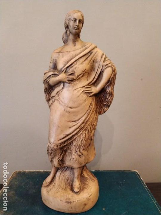 FIGURA GITANA - POSIBLE ANTONIO GARRIGOS - EN TERRACOTA - SELLO VILA ALBACETE - MUSEO COLECCIONISTA (Antigüedades - Porcelanas y Cerámicas - Otras)