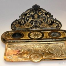 Antiquitäten - Escribanía de hierro fundido, siglo XIX. - 158927738