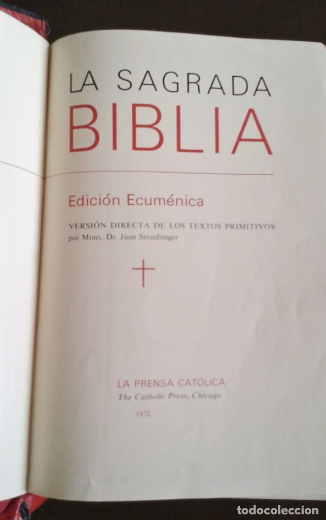 Antigüedades: SAGRADA BIBLIA EDICIÓN ECUMÉNICA. 1973 - Foto 2 - 158932398