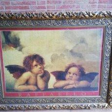 Antigüedades: ANTIGUO PUZZLE ENMARCADO ÁNGELES RAFAEL . Lote 158971170
