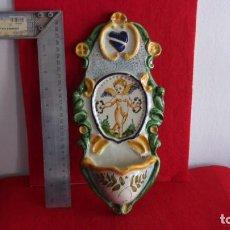 Antigüedades: BONITA BENDITERA,CERAMICA,GRAN TAMAÑO. Lote 158977066