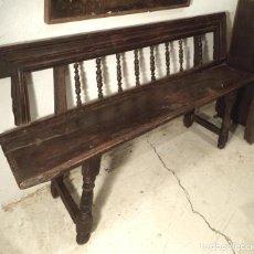 Antigüedades: BANCO DE NOGAL S.XVII. Lote 158991214