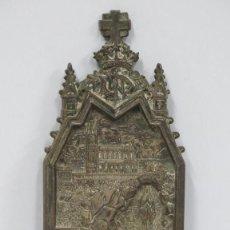 Antigüedades: BONITO BAJORRELIEVE NEOGOTICO DE LA VIRGEN DE LOURDES. FINALES SIGLO XIX. Lote 159012170