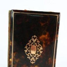 Antigüedades: CARNET DE BAILE NAPOLEÓN III 1850 CAREY, MARFIL Y ORO.. Lote 159016222